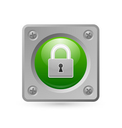 Padlock security icon suitable for custom design vector