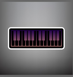 piano keyboard sign violet gradient icon vector image