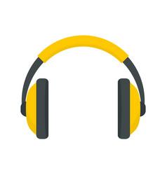 rap headset icon flat style vector image