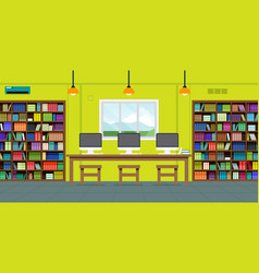 Readers in library vector