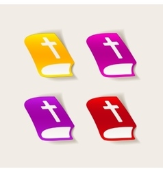 realistic design element bible vector image