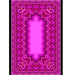 Refined oriental carpet in purple shades vector