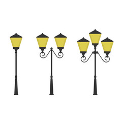 Retro street lights vector