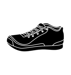 running shoes isolated icon vector image