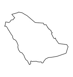 Saudi arabia map of black contour curves of vector