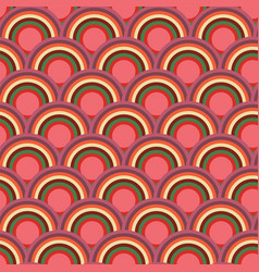 scallop scale circle seamless repeat pattern vector image