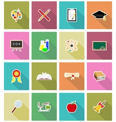 school education flat icons 18 vector image