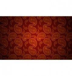 seamless paisley wallpaper vector image
