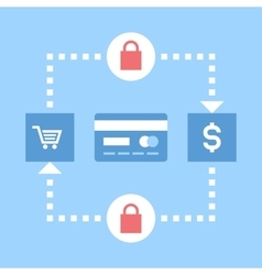 secure transactions vector image