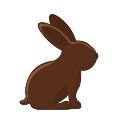 Silhouette of chocolate rabbit with long ears vector