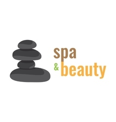 Spa health relaxation care a logo stones vector
