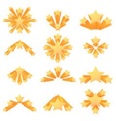 stars explosion icon color burst set vector image