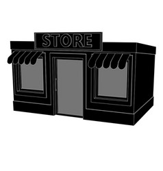 store building black drawing vector image
