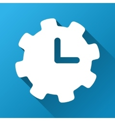 Time Settings Gradient Square Icon vector