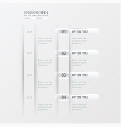 timeline design white color vector image