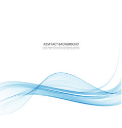 Transparent blue abstract wave on white background vector