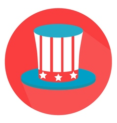 Uncle Sam Hat 4th of July Flat Style vector image