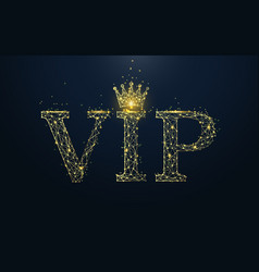 vip icon from lines triangles and particle style vector image