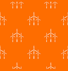wind generator turbines pattern seamless vector image