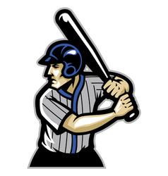 baseball player ready to hit the ball vector image vector image