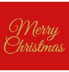 gold merry Christmas vector image