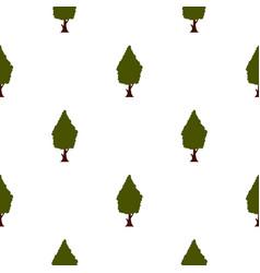 green tree pattern flat vector image