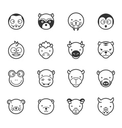 Set of animal icons eps10 format vector image vector image