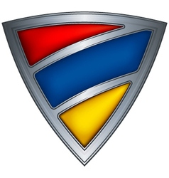 steel shield with flag armenia vector image vector image