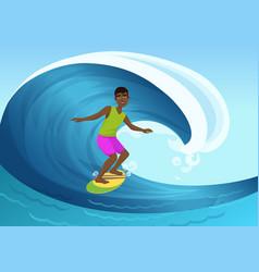 black cheerful man riding vector image vector image