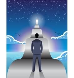 Long road ahead business concept vector
