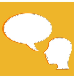 talking head with speech bubble vector image vector image
