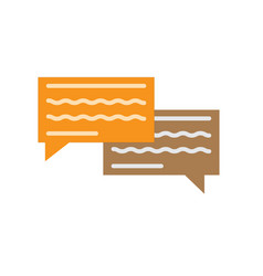 chatting icon on white background chatting sign vector image vector image