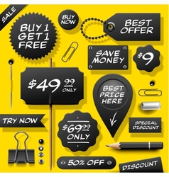 Collection of sale labels badges and supplies vector image vector image