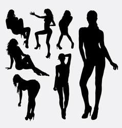 Girl sexy female silhouette vector image