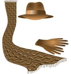 hat scarf gloves vector image