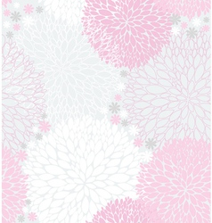 seamless pink flowers pattern vector image vector image