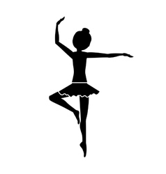 silhouette with dancer pirouette third position vector image vector image