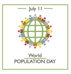 World Population Day vector image vector image