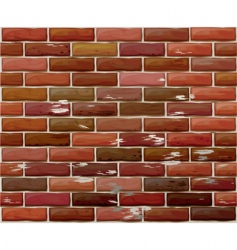 brick wall pattern vector image