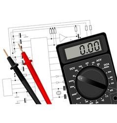 Digital Multimeter 3 vector image vector image