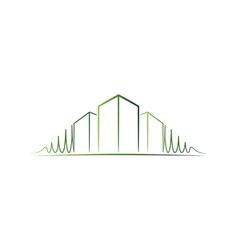 Green architect logo vector image