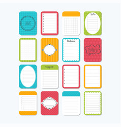 sheets of paper collection of various note vector image vector image