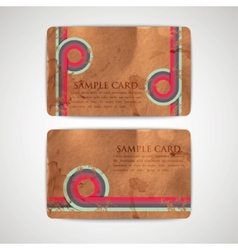 vintage cards with grunge cardboard texture vector image