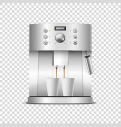 3d realistic modern metal chrome steel vector image