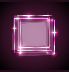 Abstract background with pink squares banner vector