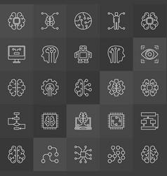 Ai icons collection - artificial vector