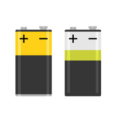 Alkaline pp3 battery flat colorful isolated vector