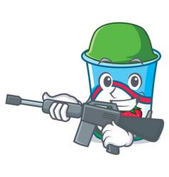 army yogurt character cartoon style vector image