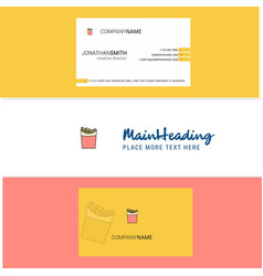 beautiful fires logo and business card vertical vector image