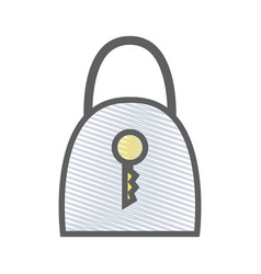 Blue padlock security tool service vector